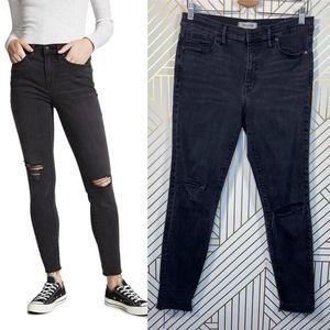"Madewell 9"" High Riser Skinny Skinny Jeans Black"